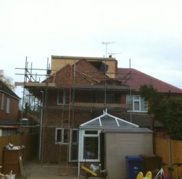 Loft Conversion In Progress: Click Here To View Larger Image